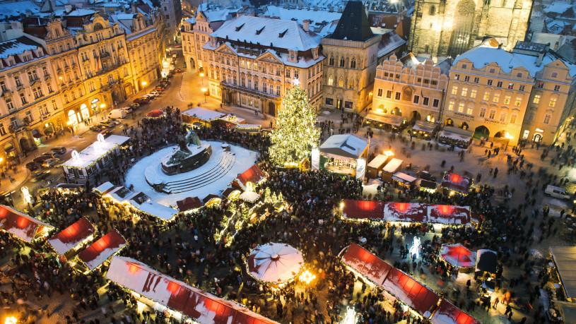 Trade fair in Prague. Christmas